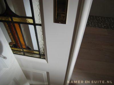 Binnendeur glas in lood detail