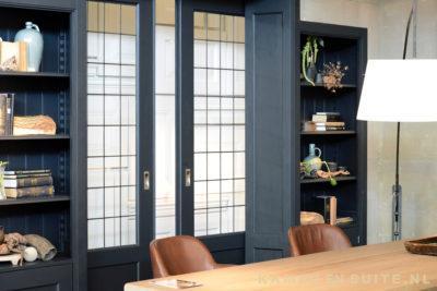 Zwarte en suite deuren