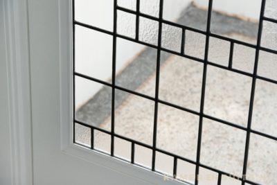 Structuurglas in lood